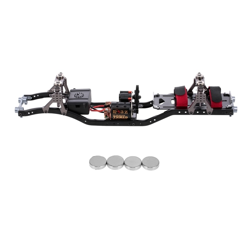 DIY RC Marco de coche fibra de carbono Metal Chasis de coche Beam con 540 Motor para AXIAL SCX10 RC Crawler escalada coche repuestos