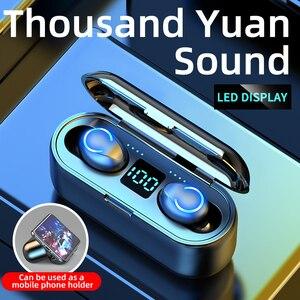 Беспроводные Bluetooth наушники V5.0, TWS наушники, Hi-Fi, спортивные водонепроницаемые беспроводные наушники, гарнитура, наушники, новинка F9-8