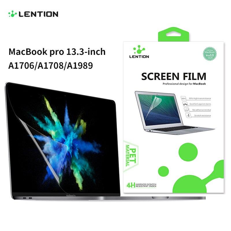 מסך מגן עבור MacBook Pro 13 אינץ 2016-2020 עם או w/החוצה מגע בר A1708/a2159, HD ברור סרט עם הידרופובי ציפוי