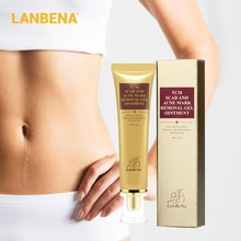LANBENA acné cicatrice enlèvement crème acné taches acné traitement points noirs crème blanchissante vergetures peau réparation visage crème 30ml