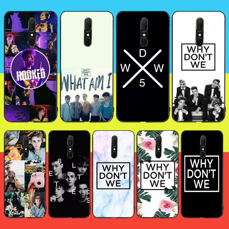 HPCHCJHM Why Dont Do Not We WDW Custom Photo Soft Phone Case For Oppo A5 A9 2020 Reno Z Realme5Pro R11 case