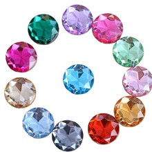 6 Sizes Colorful Red Sew On Rhinestones Crystal Acrylic Sewing Rhinestones Flatback Acrylic Round Chamfering For Garment Y3493