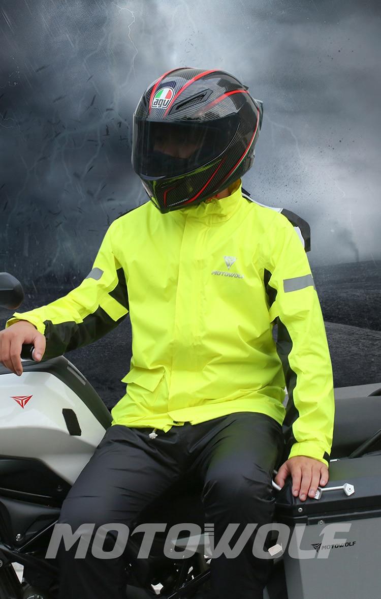 Poncho Scooter Hood Raincoat Jacket Pants Set Motorcycle Yellow Raincoat Waterproof Rainsuit Yagmurluk Erkek Rain Gear AD50RC enlarge