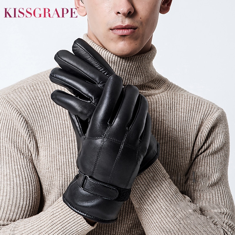 low temperature resistant gloves liquid nitrogen lng natural gas ice storage antifreeze thick warm cold gloves for adult Super Warm Gloves for Men 2020 Winter Men's Genuine Leather Gloves Male Outdoor Natural Fur Motorcycle Gloves Thick Waterproof
