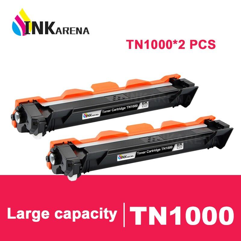 INKARENA cartucho de tóner Compatible para hermano TN1000 TN1030 TN1080 TN1060 TN1070 TN1075 HL1110 TN 1030 1075 impresoras