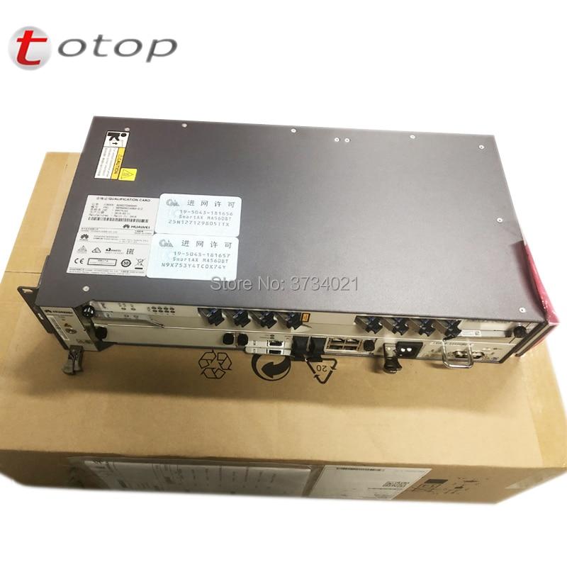 Terminal de ligne optique dorigine Huawei OLT MA5608T avec 1*1G MCUD + 1 * MPWC DC + 1 * carte de Service GPBD C + 8 Ports
