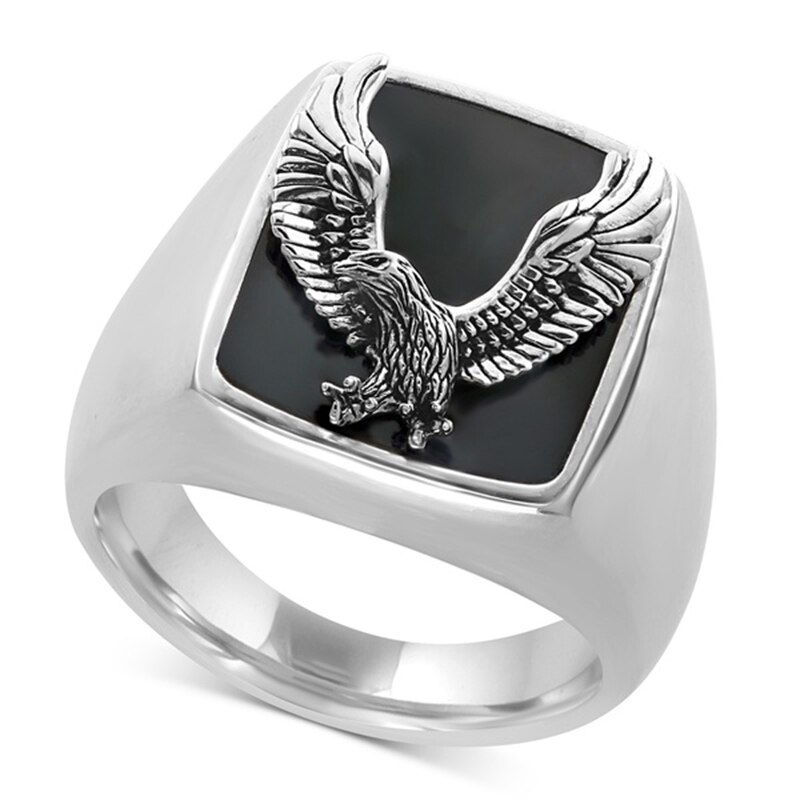 Fashion Hip Hop Flying Eagle Ring Men Wedding Accessories Steampunk Indian Rock Biker Finger Rings for Women Boho Jewelry