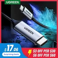Кабель-конвертер Ugreen USB-C-HDMI, конвертер Thunderbolt 3 Type-C-HDMI для MacBook, Huawei Mate 30 Pro, адаптер USB-C-HDMI, USB Type-C-HDMI