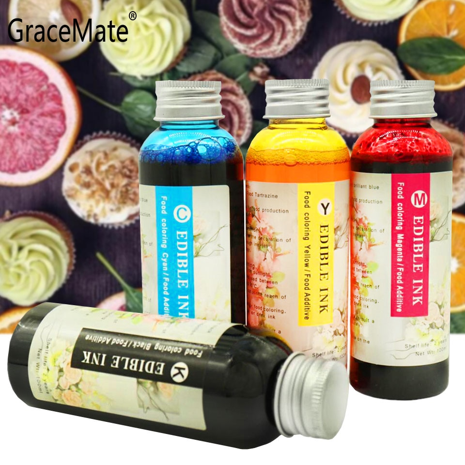 GraceMate PGI550 CLI551 Food Edible Ink Compatible for Canon PIXMA IP7250 MG5450 MG6350 MG7150 MG6450 MG5550 MX925 MX725 Printer 6 pack pgi 550 cli551xl ink cartridge compatible for canon pixma ip7250 mg5450 mx925 mg5550 mg6450 mg5650 mg6650 ix6850 mx725