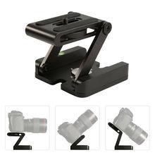 Z Type DSLR trépied pliant Z Flex Pan tête inclinable appareil photo bureau support de support pour Canon Nikon Sony DSLR caméra trépied têtes