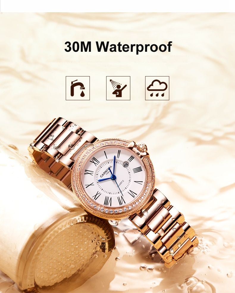 Rose Gold Womens Watches Top Brand Luxury Waterproof Watch Fashion Ladies Steel Ultra-Thin Casual Wristwatch Quartz Clock 2021 enlarge