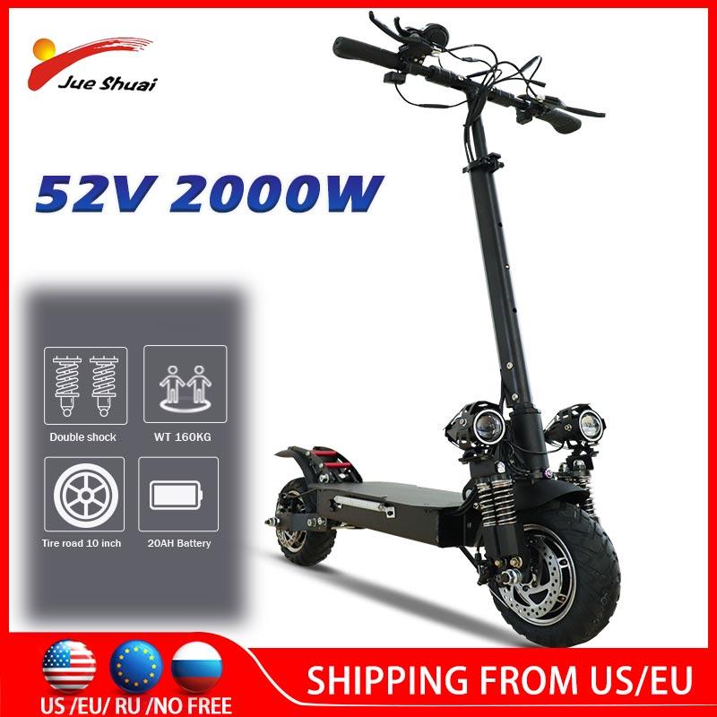 Patinete eléctrico de 65 Km/h para adulto, Scooter con Motor de cubo...