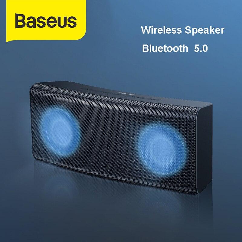 Altavoz inalámbrico de alta potencia Baseus 6W Bluetooth 5,0 Hi Fi sin pérdidas con colorido reproductor de música ligero sonido estéreo graves fuertes