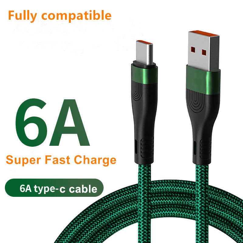 FLOVEME QC3.0 6A Super Fast Charging Cable 66W for Phone 1m 2m Micro USB Type C for Huawei Samsung i