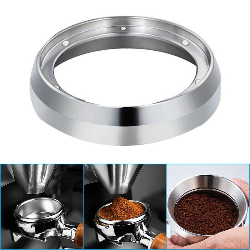 54 مللي متر اسبريسو الجرعات قمع المغناطيسي الفولاذ المقاوم للصدأ القهوة الجرعات حلقة متوافق مع 54 مللي متر Portafilter لشريط المنزل int99