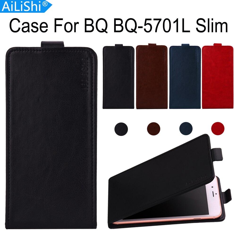 Caso Para BQ AiLiShi BQ-5701L Fino Caso PU Leather virar Luxo BQ 5701L Exclusive 100% Pele Tampa Do Telefone + Rastreamento em Estoque