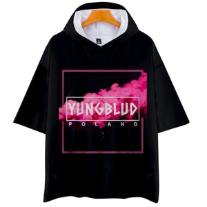 Yungblud Black Hearts Club hooded t shirt tops Popular Singer men's hoodie Tshirt Kpop Hip Hop Costume Tee shirt streetwear