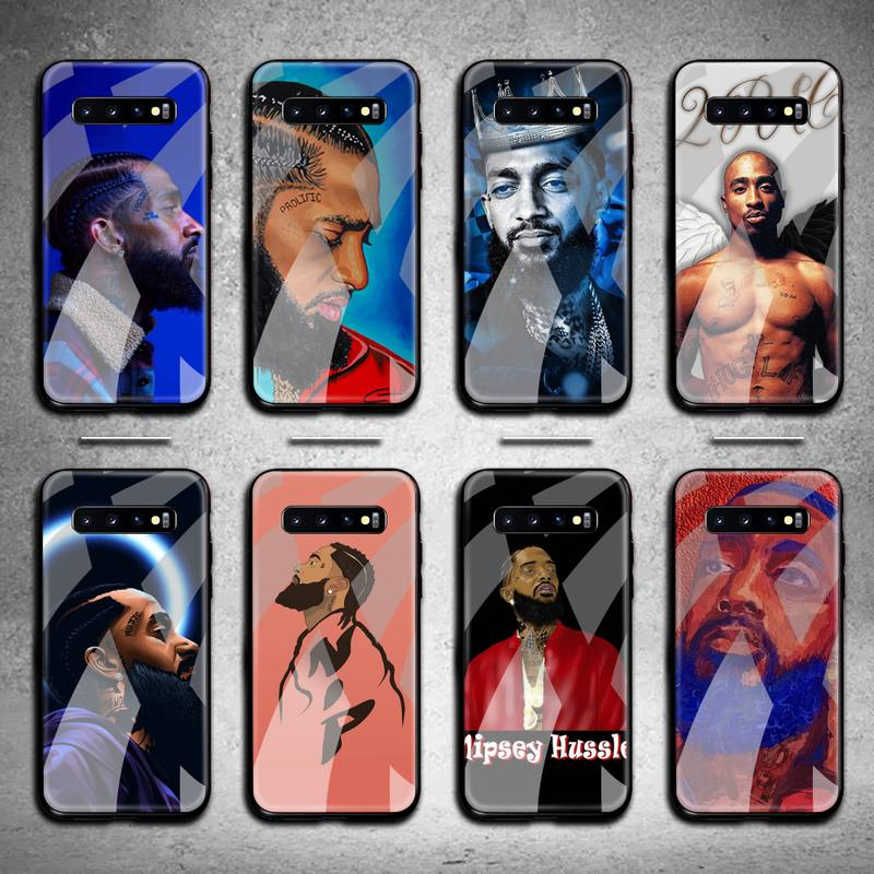 Nipsey Hussle Phone Case Tempered Glass For Samsung S20 Plus S7 S8 S9 S10 Plus Note 8 9 10 Plus