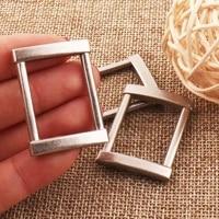 25mm silver rectangular square rings bag rings webbing purse handbag bag making hardware leather carft rectangle ring 10 pcs