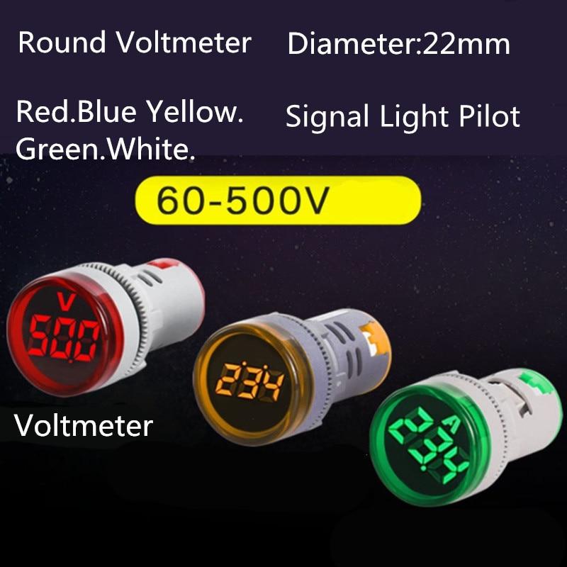 22mm led digital display gauge volt voltage meter indicator signal lamp voltmeter lights tester combo measuring range 60 500v ac 22mm LED Digital Display Gauge Volt Voltage  Indicator Signal Lamp Voltmeter Lights Tester Combo Measuring Range 60-500V AC