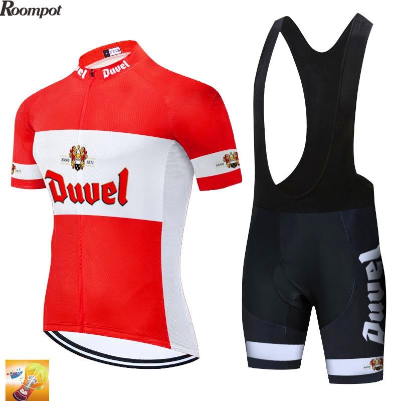 2020 rojo DUVEL ycling equipo jersey 16D bicicleta pantalones cortos traje Ropa Ciclismo hombres verano secado rápido profesional bicicleta Maillot pantalones Ropa