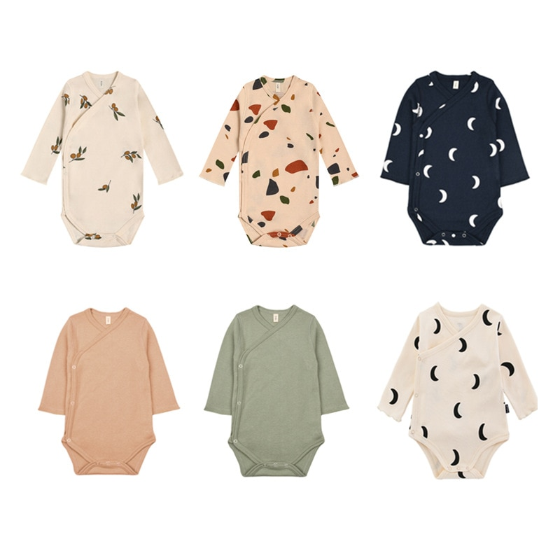 Newborn Baby Jumpsuit Baby Boys Clothes Infant Rompers Baby Girls Clothes High Quality Cotton Long Sleeve Onepiece Bodysuits cute newborn baby clothing long sleeve cotton solid baby rompers peter pan collar girls boys clothes jumpsuit infant costumes