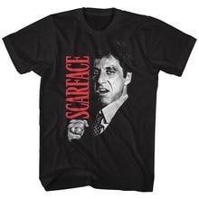 American Classics Scarface Gangster Crime Movie Al Pacino Tony Montana Fist Adult T-Shirt Tee