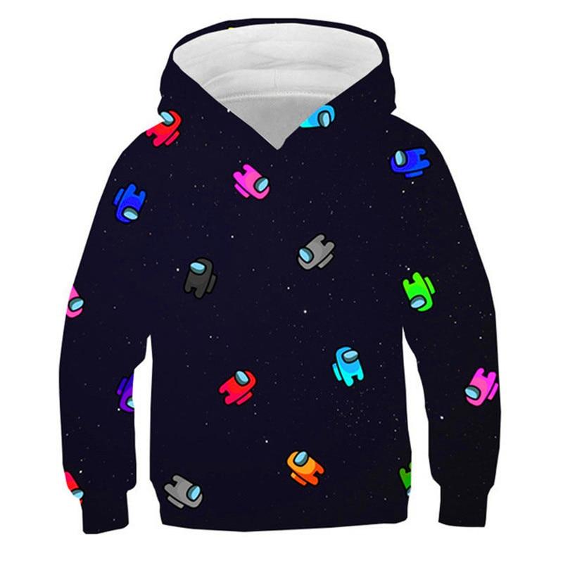 Kids Game Among We Hoodies For Boys Impostor Sweatshirt Girls Impostor New Children Streetwear 100% Cotton Casual Hoodie 4T-14T