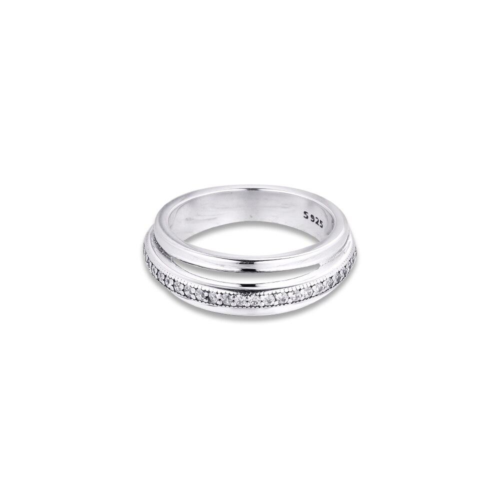 Тройной браслет паве кольцо для 2020 женщин 925 стерлингового серебра ювелирные изделия полые сердца женщин Кольца Мода Кристалл Девушка кольцо