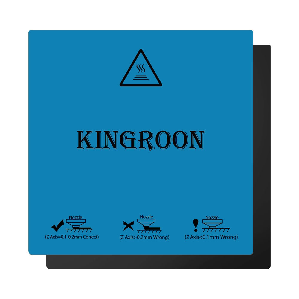 Kingroon 180*180mm, Flexible, magnético, impresión de 2 capas, pegatina de cama caliente, superficie de eliminación de construcción para impresora 3D, plataforma de construcción, cama climatizada