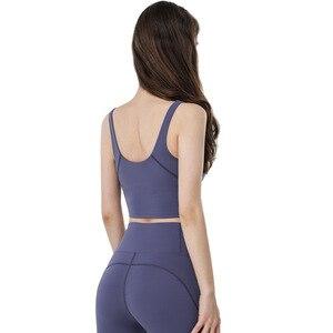 Sport Femme Gym Deep U Underwear Yoga Bra Paded Top Sports Backless Sports Bra Push Up Bra Seamless Sport Bra Top Brassiere