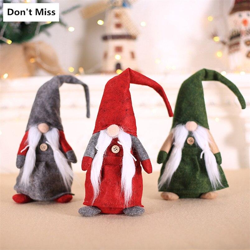 Feliz Navidad regalo de Navidad para año nuevo pequeño juguetes Santa Claus padre Navidad muñecas barba muñecas figuras Natale 2019