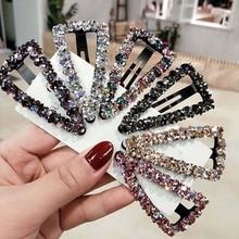 Fashion Girls Hair Claw Geometric Imitation Pearl Hairpin Crab Retro Heart Shape Crystal Hair Clips Hair Accessories For Women