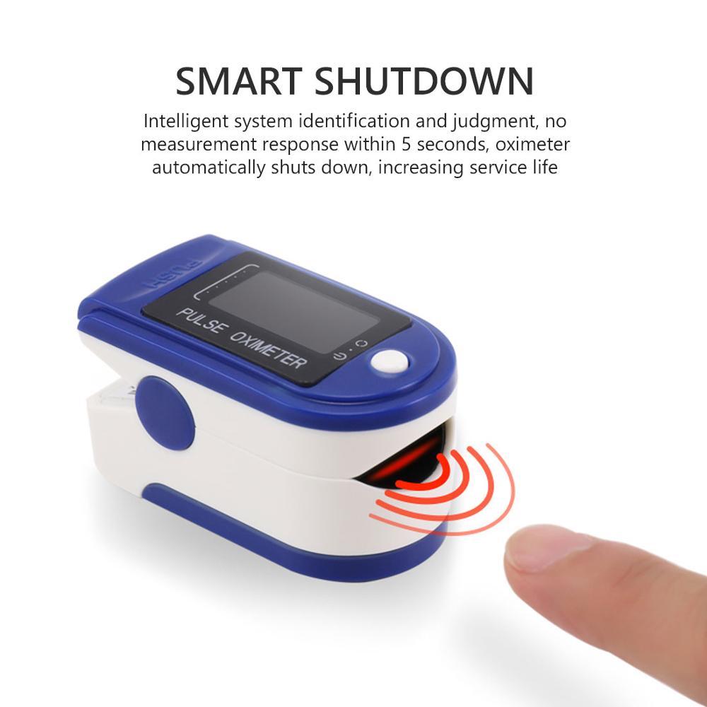 Medical Household LED Digital Fingertip pulse Oximeter Blood Oxygen Saturation Meter Finger SPO2 PR Monitor health Care