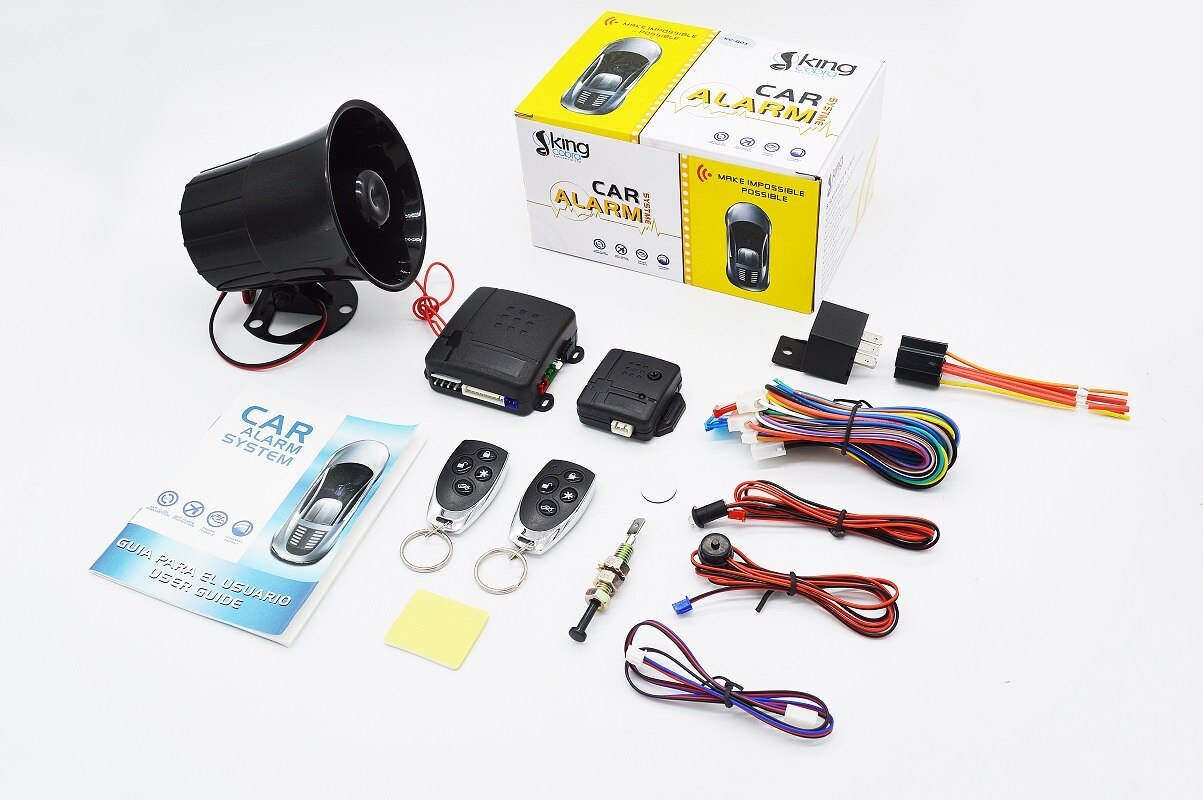 Universal 1-Way Car Alarm Vehicle System Protection Security System Keyless Entry Siren + 2 Remote C