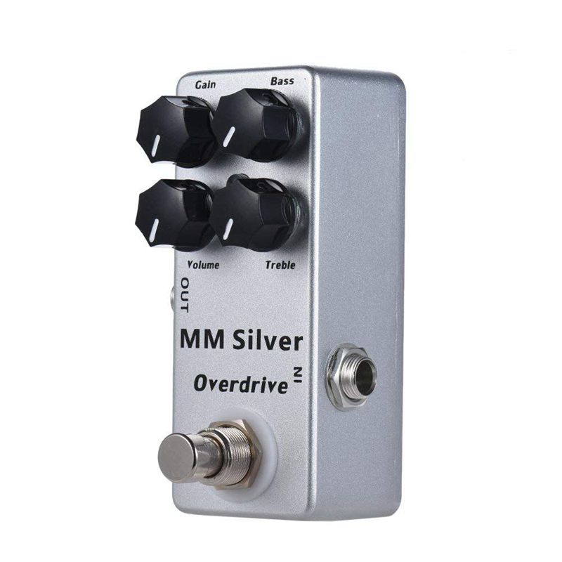 Mosky MM Silver Electric Guitar Effect Pedal Bass Overdrive Effects Pedal 4 Modes True Bypass Guitar Accessories