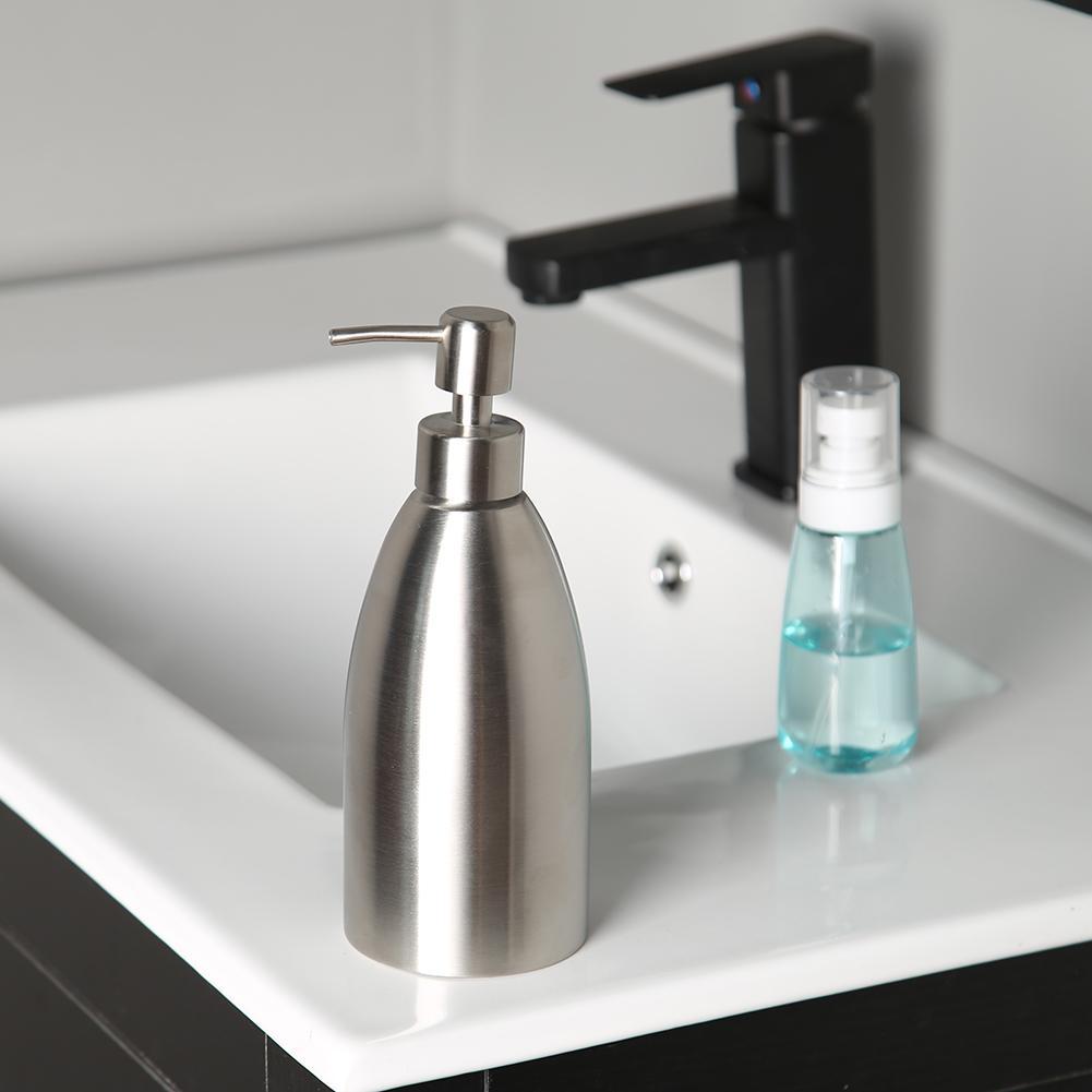 500ml Stainless Steel Soap Dispenser Bottle Kitchen Bathroom Hand Washing Detergent Shampoo Box Container home/hotel
