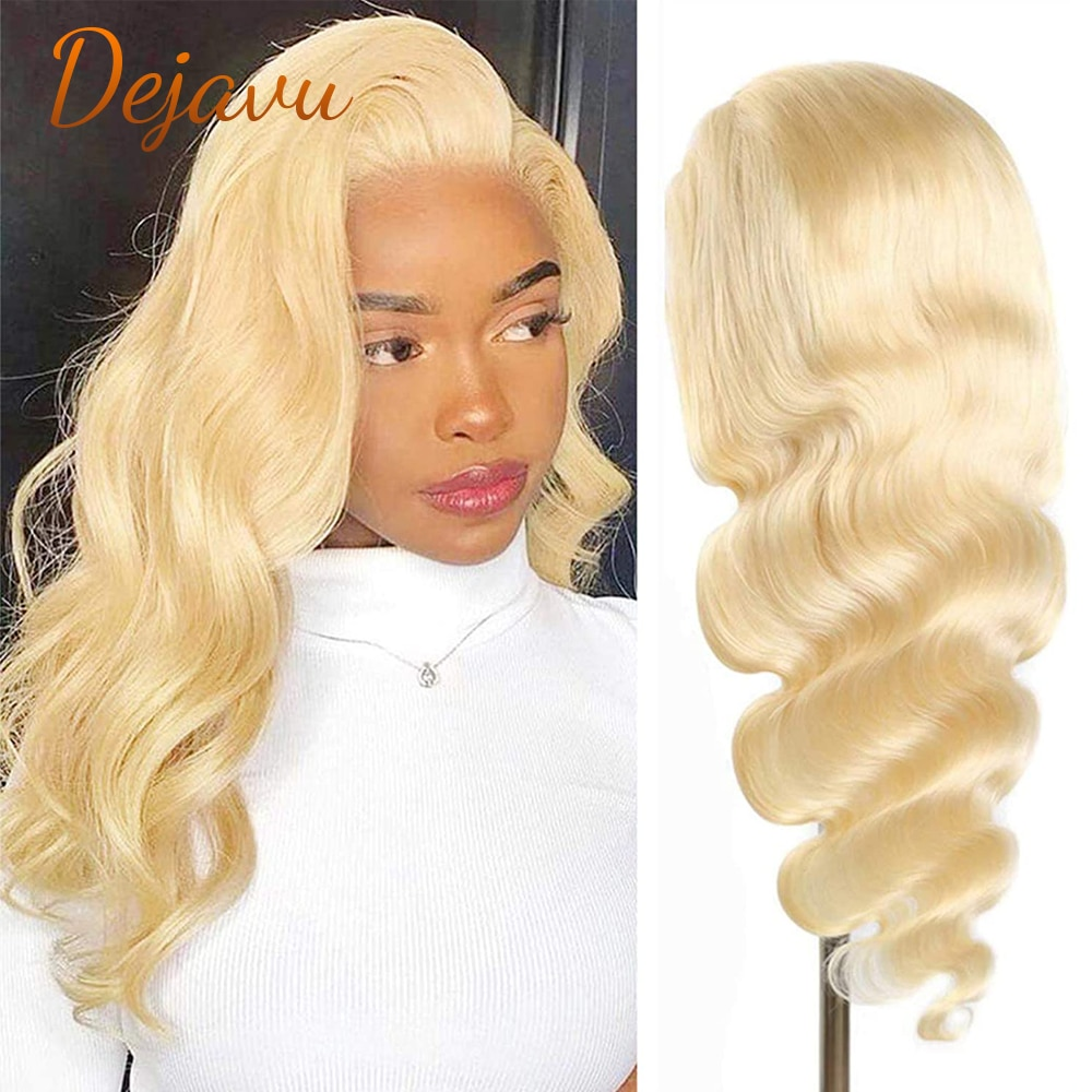 Dejavu 613 Blonde Body Wave Lace Front Wig 13x4 Lace Front Wigs Prepluck Human Hair Wigs Remy 13x4x1 Lace Frontal Wigs