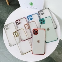 electroplated fine hole phone case for iphone 12pro 11 12 pro max xr xs max x 7 8 plus 12mini 11 camera protection bumper case
