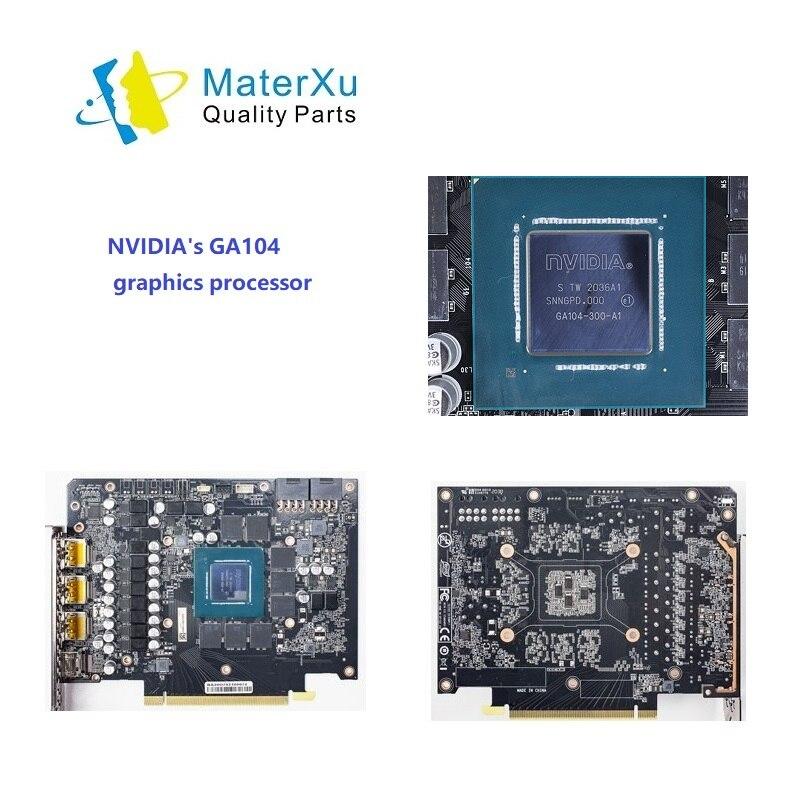 MasterXu Pro Parts وحدة معالجة الرسومات NVIDIA GA104 بطاقة جرافيكس معالج لإصلاح GeForce Gamers RTX 3070 Ti قطع غيار اللوحة الرئيسية