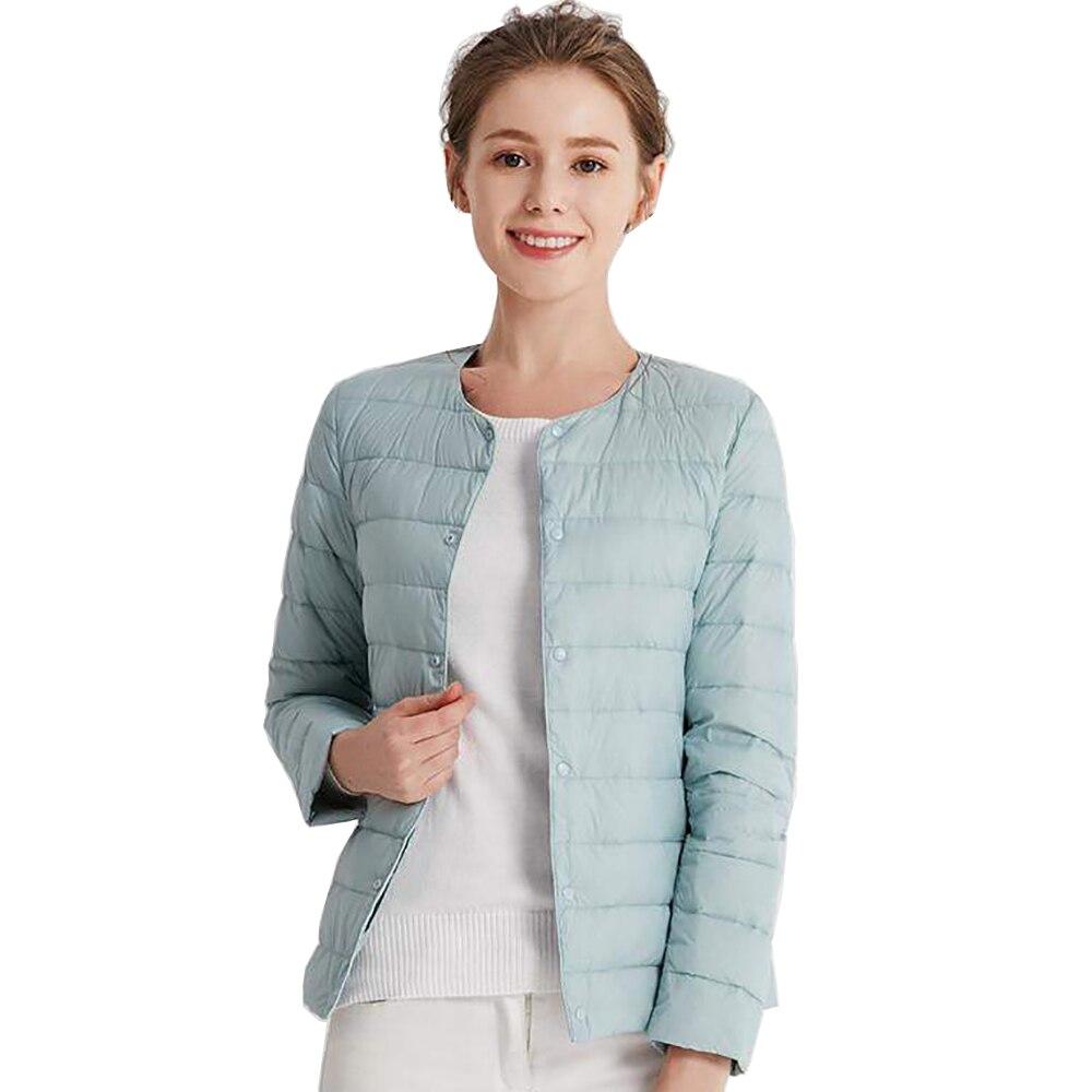 Abrigo, prendas de vestir, chaquetas, Parka, plumón de pato ultraligero para mujer, tela mate, ligero, cálido, cazadora femenina, Parka, chaqueta de plumón para mujer