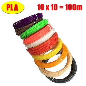 3D Printer Filaments 100 Meters 10 colors 3D Printing Pen Plastic Threads Wire for 3d drawing pens kids christmas gifts