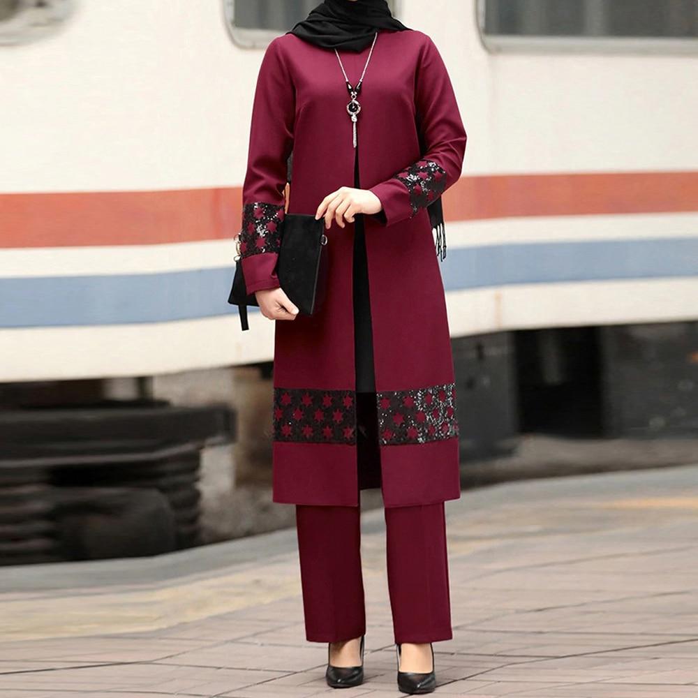 AliExpress - Ramadan Eid Mubarak Kaftan Dubai Abaya Turkey Hijab Muslim Dress Sets Islam Clothing For Women Ensembles Musulman Robe Femme Ete