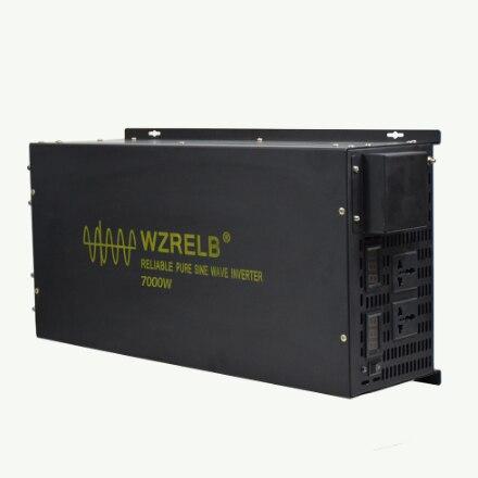7000W Pure Sine Wave Power Inverter 12V 220V Solar Panel Inverter Battery Power Bank Transformer 24V/48V DC to 120V/230V/240V AC
