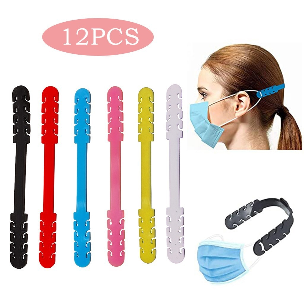 12pc-mask-extenders-face-mask-holder-anti-tightening-ear-protector-ear-elastic-strap-face-mouth-cover-hanging-buckle-accessories