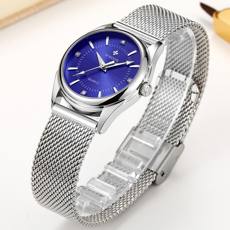 WWOOR Luxury Brand Elegant Simple Watches Women Diamond Small Wrist Watch For Ladies Quartz Waterproof Clock Female Montre Femme enlarge