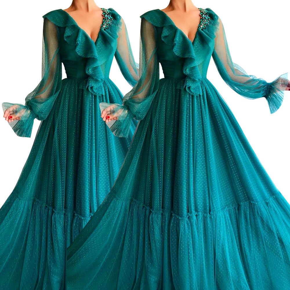Colorful Chiffon Formal Dresses Long Party Evening Gown