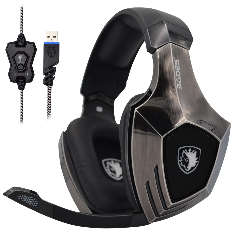 sades a60 jogo fone de ouvido 71 surround sound pro gaming fone de ouvido funcao
