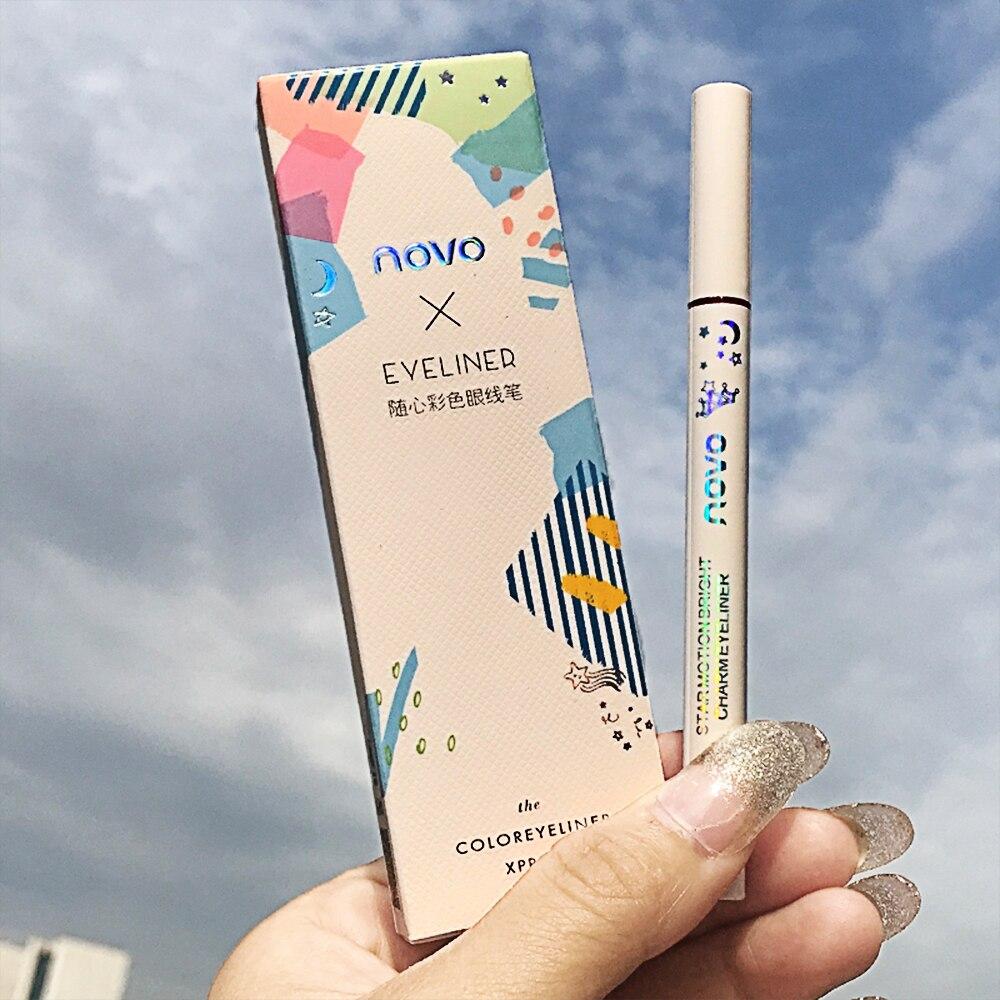 Novo 8-Farbe Eyeliner Einfach zu Make-up Wasserdicht, Keine Blooming, Kein Make-Up, kein Ausbleichen, Auch Linien, Keine Gabel