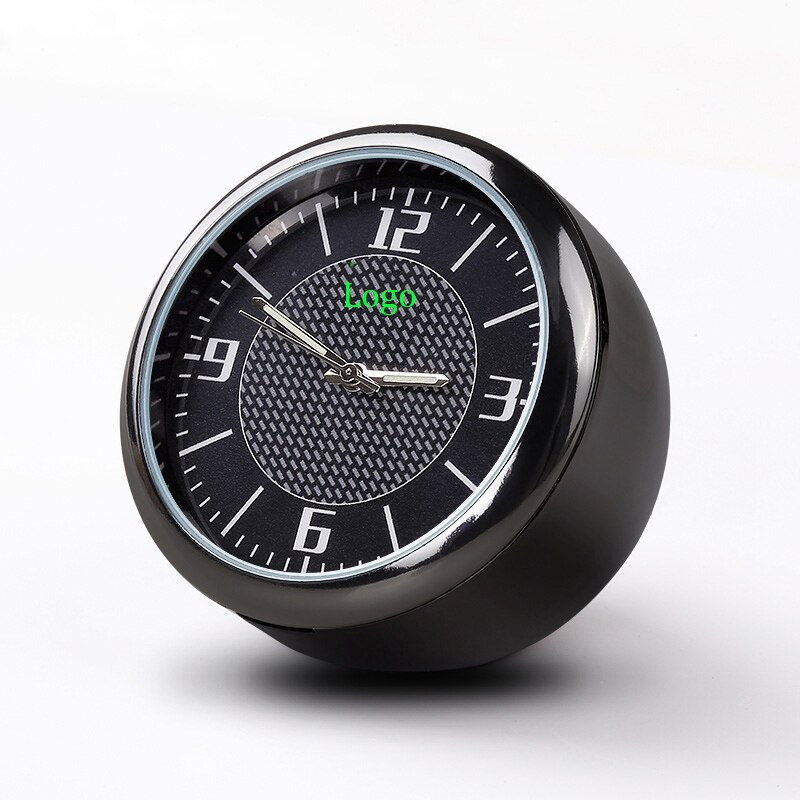 Para Tesla 3 Model S, modelo X para kia, Cadillac, Mazda, Nissan, reloj de coche luminoso, reajuste de mesa, reloj de cuarzo con adornos de reloj Interior